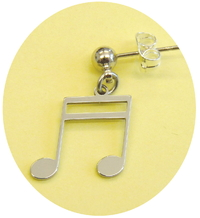 double 16th note earring
