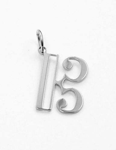 alto clef pendant stainless steel