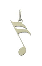 16th note pendant stainless steel