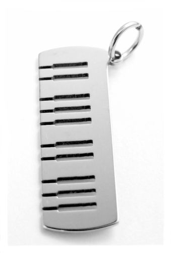 keyboard pendant stainless steel