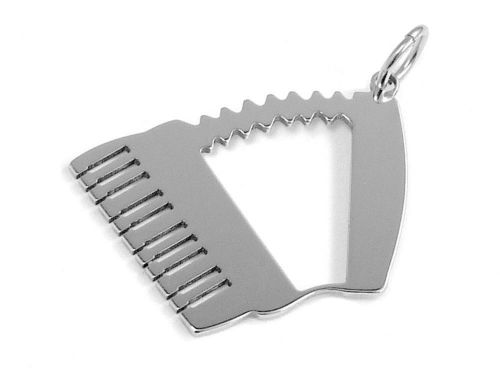 accordion pendant stainless steel