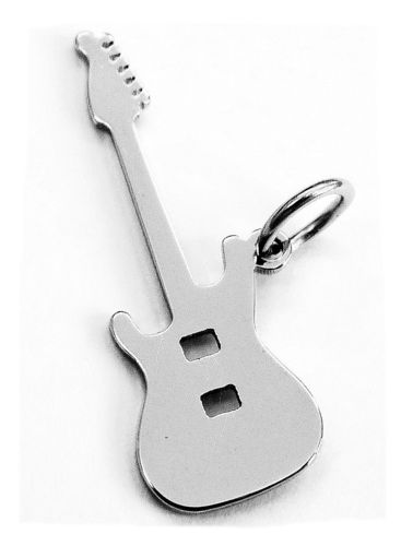 electric guitar pendant stainless steel 25x9x0,8mm