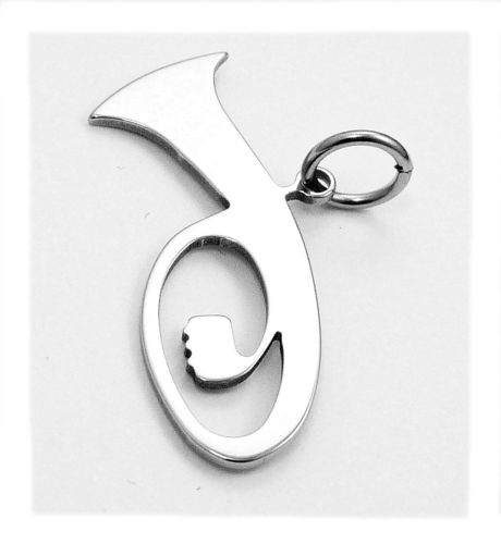 tenor horn pendant stainless steel
