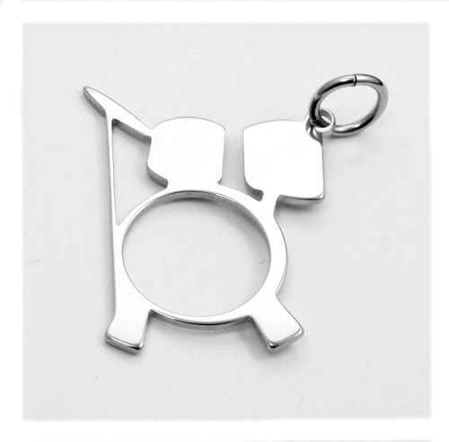 drums pendant stainless steel 20x17x0,8mm