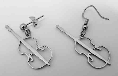 double bass earring